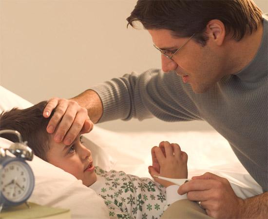 papa-enfant-malade