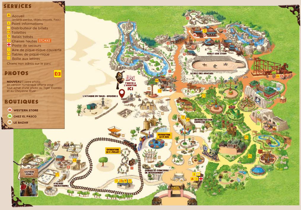 plan parc attraction mer de sable