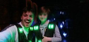 Premier Laser Quest  avec mon fils